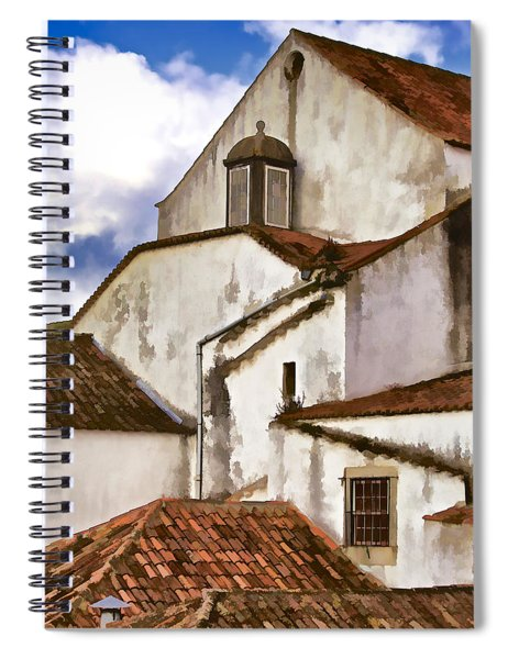 Weathered Buildings Of The Medieval Village Of Obidos Spiral Notebook