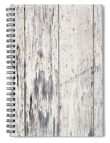 Weathered Paint On Wood Spiral Notebook