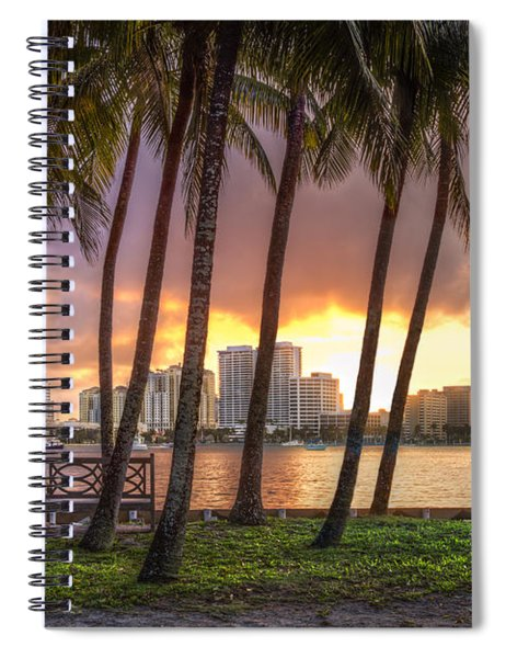 West Palm Beach Skyline Spiral Notebook