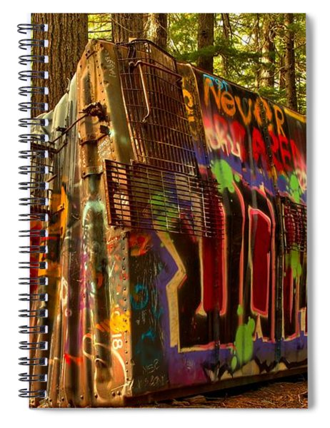 Whistler Train Derailment Box Car Spiral Notebook
