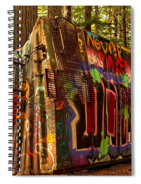 Whistler Train Derailment Box Car Spiral Notebook