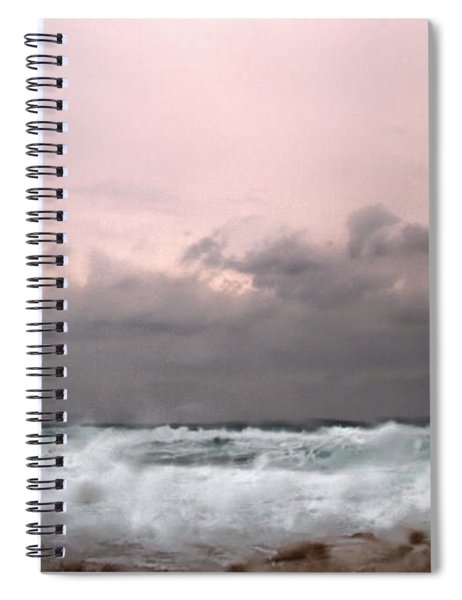 Window Sea Storm  Spiral Notebook