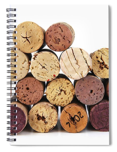 Wine Corks Spiral Notebook