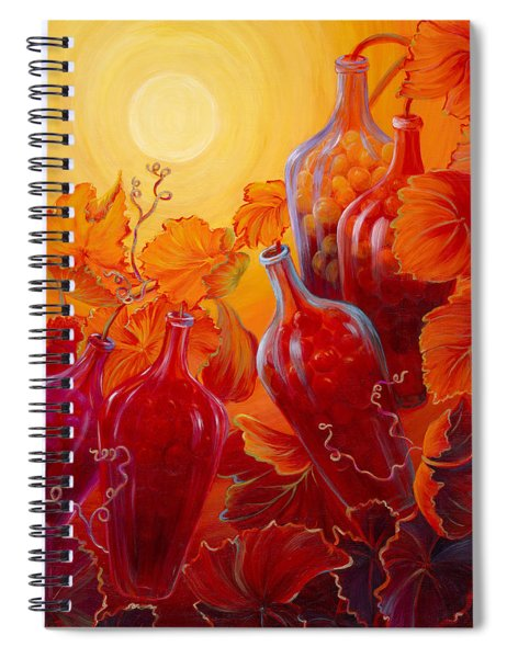 Wine On The Vine II Spiral Notebook