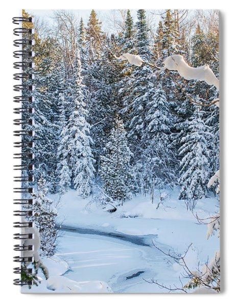 Winter At Grand Marais Creek Spiral Notebook
