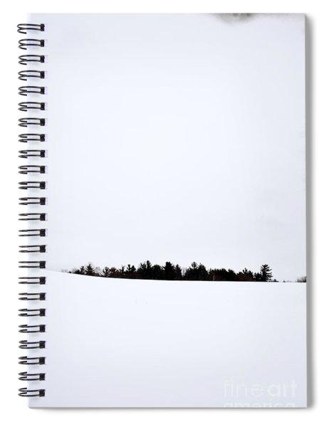 Winter Minimalism Spiral Notebook