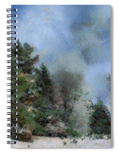 Wintery Landscape Spiral Notebook
