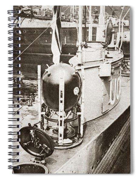 Wwi German Submarine Spiral Notebook