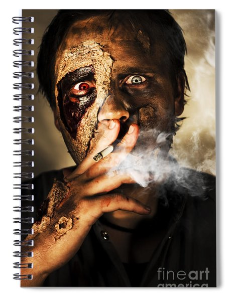 Zombie Killing Some Time Spiral Notebook