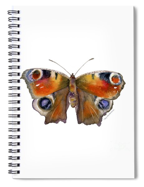 10 Peacock Butterfly Spiral Notebook
