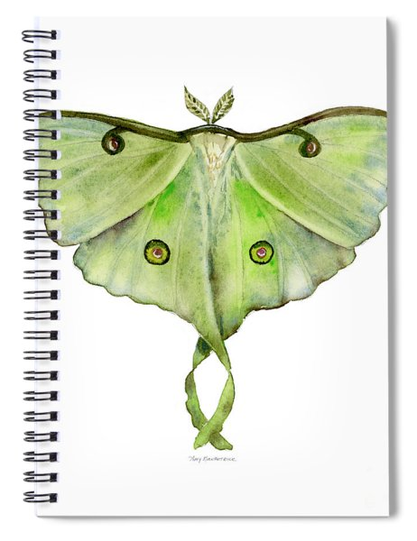 100 Luna Moth Spiral Notebook