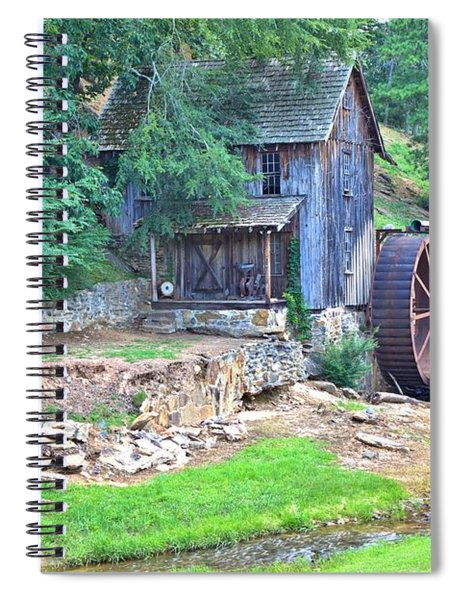 Sixes Mill On Dukes Creek Spiral Notebook