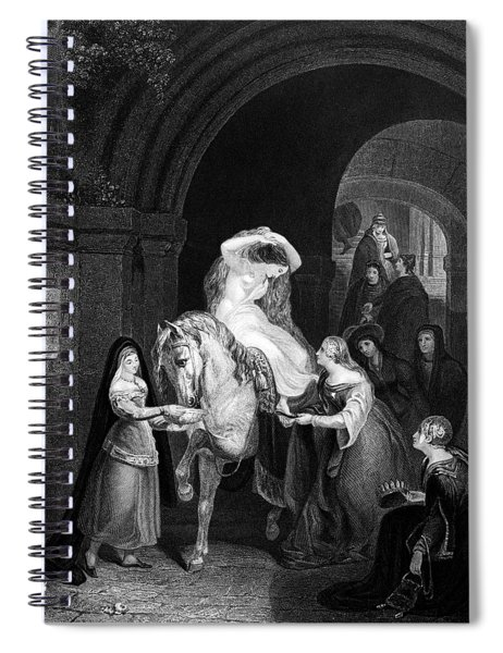 1060s Lady Godiva Naked Attended By Two Spiral Notebook