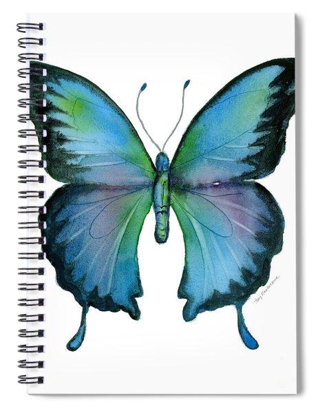 12 Blue Emperor Butterfly Spiral Notebook