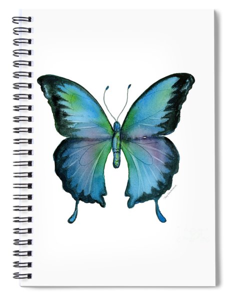 12 Blue Emperor Butterfly Spiral Notebook