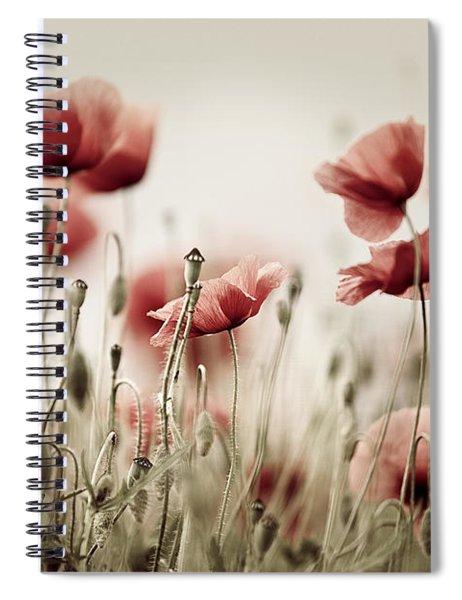 Poppy Dream Spiral Notebook by Nailia Schwarz