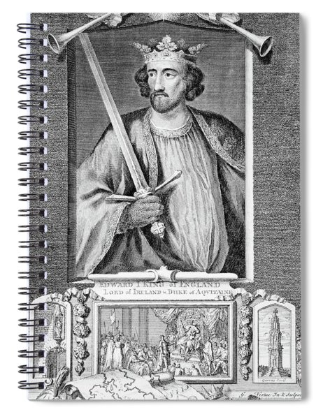 1200s 1300s King Edward I Of England Spiral Notebook