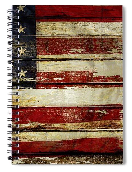 American Flag 54 Spiral Notebook
