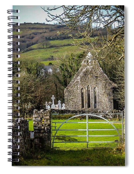 12th Century Cross And Church In Ireland Spiral Notebook