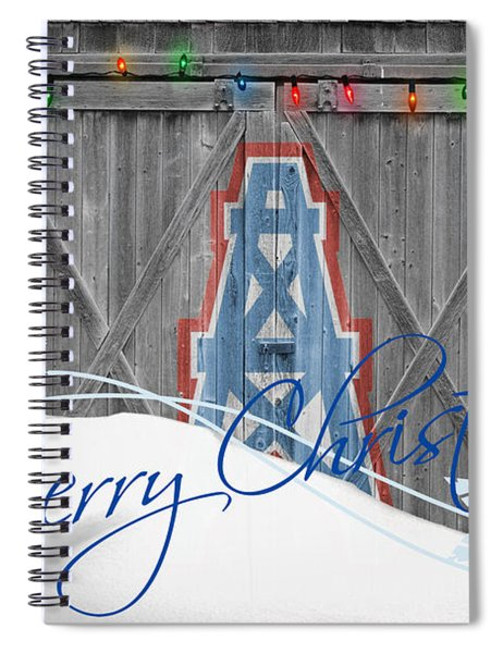 Houston Oilers Spiral Notebook by Joe Hamilton