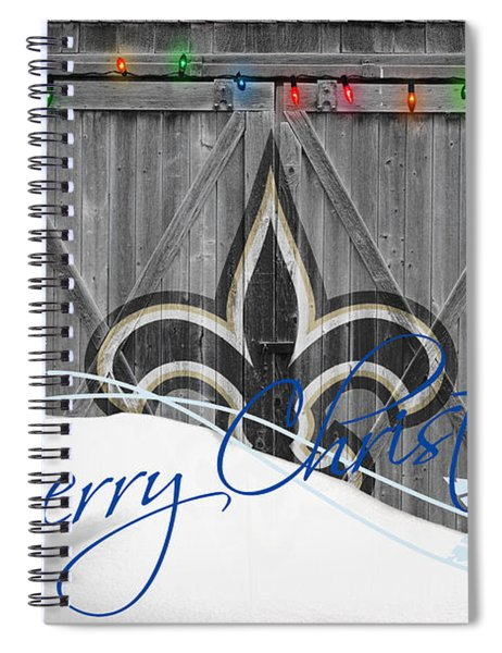 New Orleans Saints Spiral Notebook by Joe Hamilton