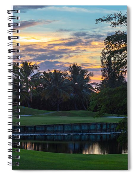 Spiral Notebook featuring the photograph 15th Green At Hollybrook by Ed Gleichman