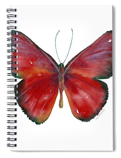 16 Mesene Rubella Butterfly Spiral Notebook