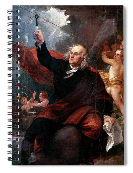 1750s Benjamin Franklin Touching Key Spiral Notebook