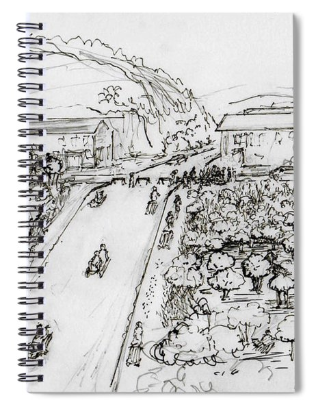 17th And Kendall Avenue Sledding  Spiral Notebook