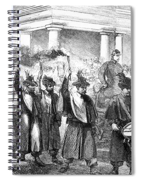 1800s 1860s December 1861 Torchlight Spiral Notebook