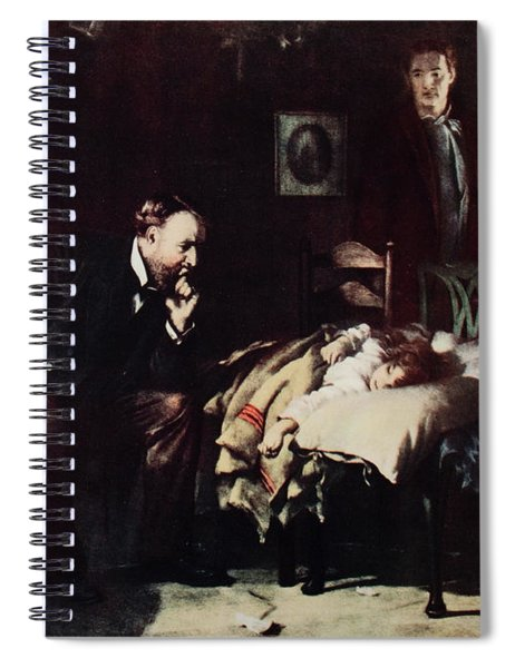 1800s Rural Country Doctor Ponders Fate Spiral Notebook