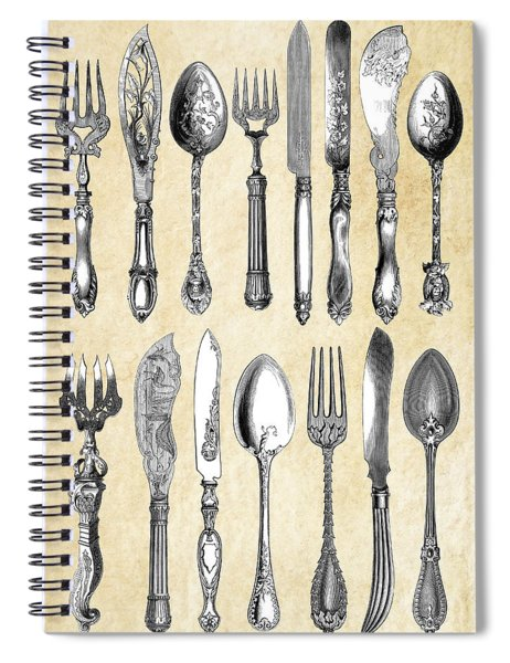 1851 London Silverware Spiral Notebook