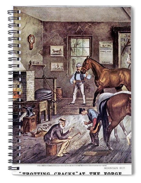 1860s Trotting Cracks At The Forge - Spiral Notebook