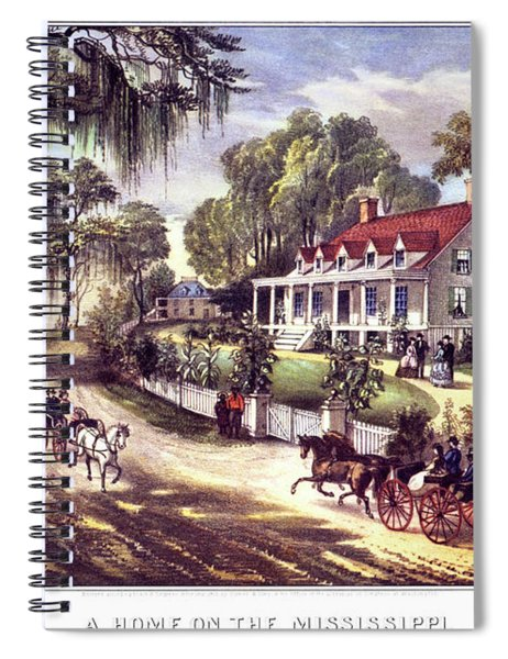 1870s 1800s A Home On The Mississippi - Spiral Notebook