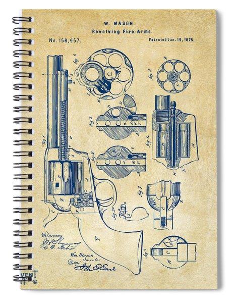 1875 Colt Peacemaker Revolver Patent Vintage Spiral Notebook