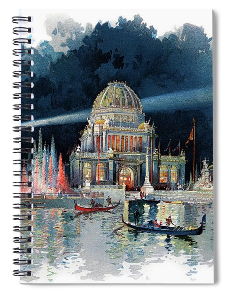 1890s Night In Grand Court Of World Spiral Notebook