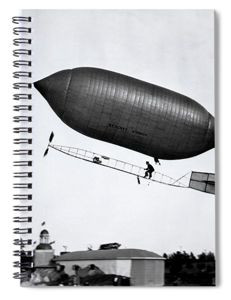 1900s 1910s Lincoln Beachey Airship Spiral Notebook