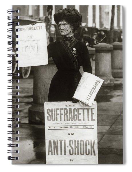 1900s British Suffragette Woman Spiral Notebook