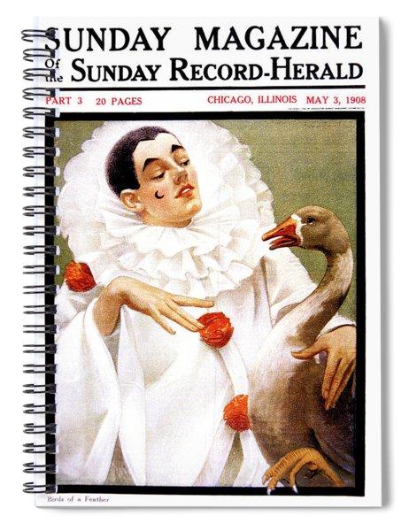 1900s Chicago Sunday Magazine Cover Spiral Notebook