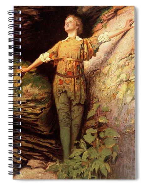 1900s Painting Of Actress Maude Adams Spiral Notebook