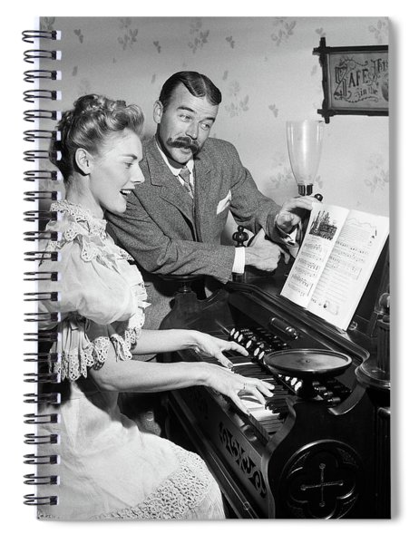 1900s Singing Couple In 19th Century Spiral Notebook