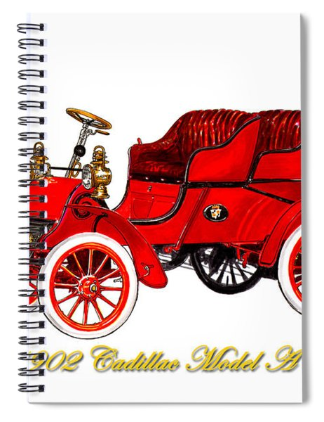 1902 Cadillac Model A Runabout Spiral Notebook