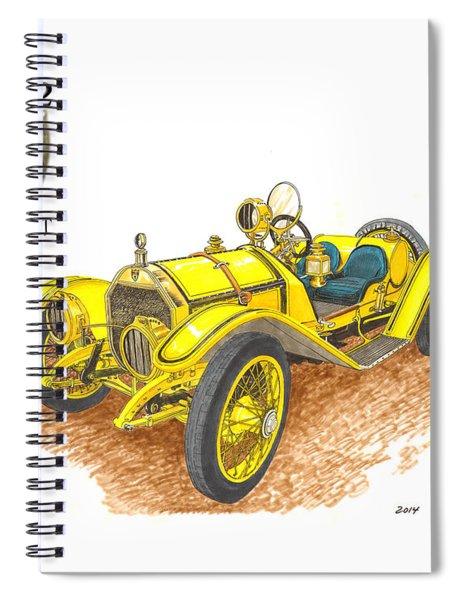 1911 1912 Mercer Raceabout R 35 Spiral Notebook