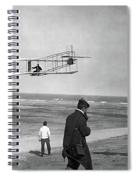 1911 One Of The Wright Brothers Flying Spiral Notebook