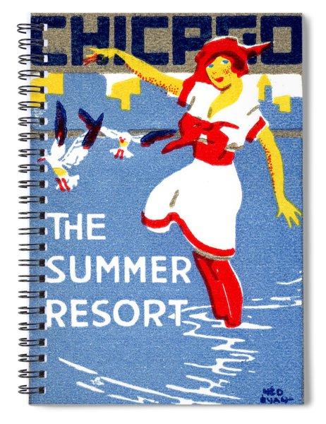 1912 Chicago The Summer Resort 2 Spiral Notebook