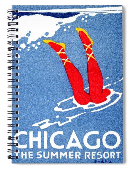 1912 Chicago The Summer Resort 3 Spiral Notebook