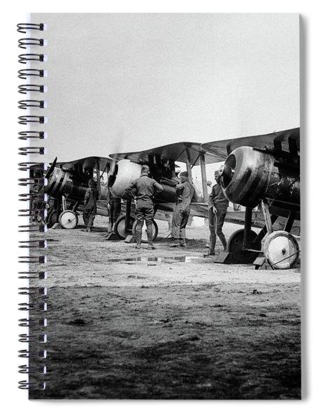 1918 Flight Line Of American Spiral Notebook