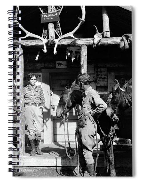 1920s 1930s Couple And Horses In Front Spiral Notebook