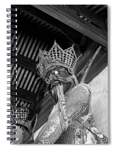 1920s 1930s Fierce Looking Statue Spiral Notebook