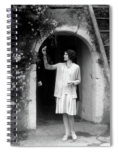 1920s 1930s Woman In Flapper Outfit Spiral Notebook